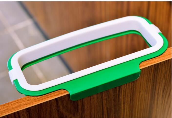 Plastic Trash Bag Shelf Storage Hook Household Back Door Portable Garbage Bag Holder Multifunctional Kitchen Cabinet Door Hanging Racks