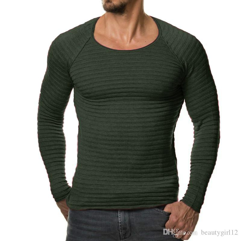 New Fashion Winter Men Pullover Knitted Sweater High Quality Warm Sweaters Male Long Sleeve Plus Size Top Hombre