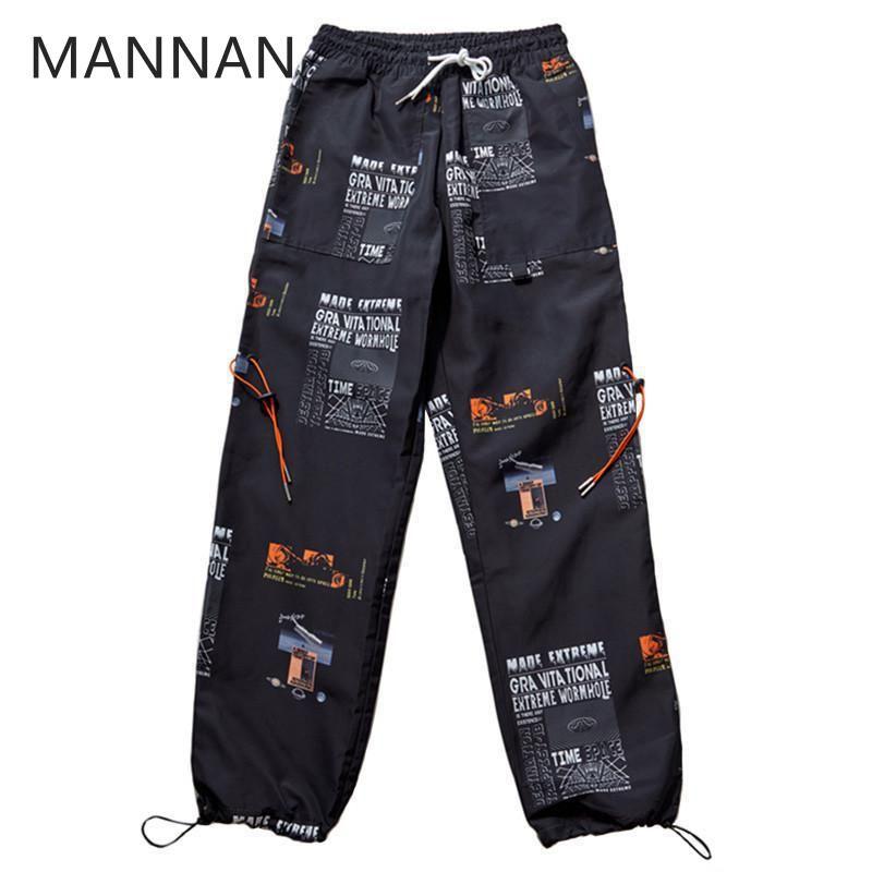 Acquista MANNAN 2018 Autunno Pantaloni Da Jogging Hip Hip Pant Star Stampa  Uomo Harajuku Pantaloni Sportivi Streetwear Moda Casual Pantaloni Da Pista  ... 598fd743362c