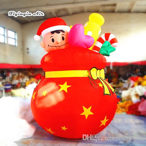 2018 red inflatable christmas bag 3m height blow up xmas decorations candy box for holiday decoration from calmwen 58292 dhgatecom - Blow Up Christmas Decorations