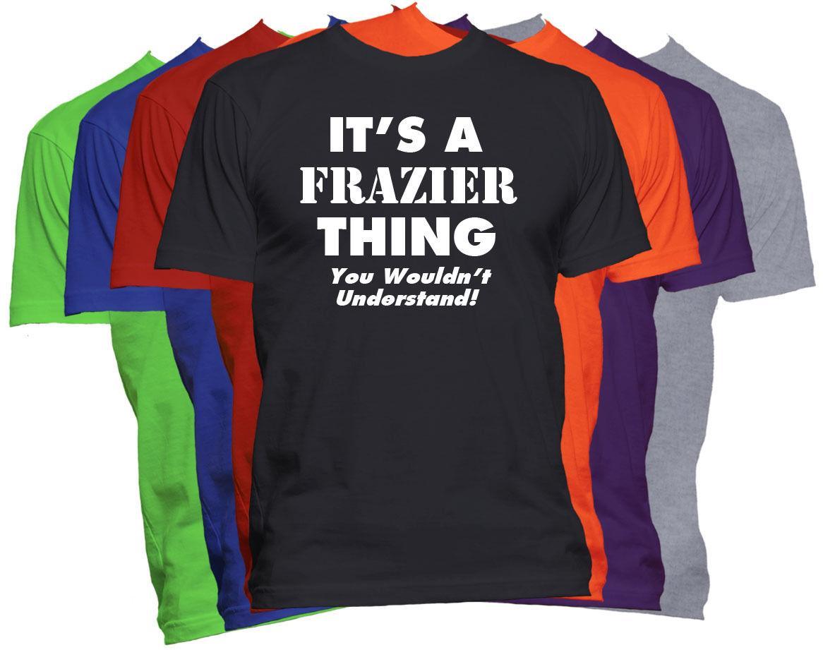 Last Name T Shirt Designs | Frazier Last Name Family Name T Shirt Custom Name Shirt Family