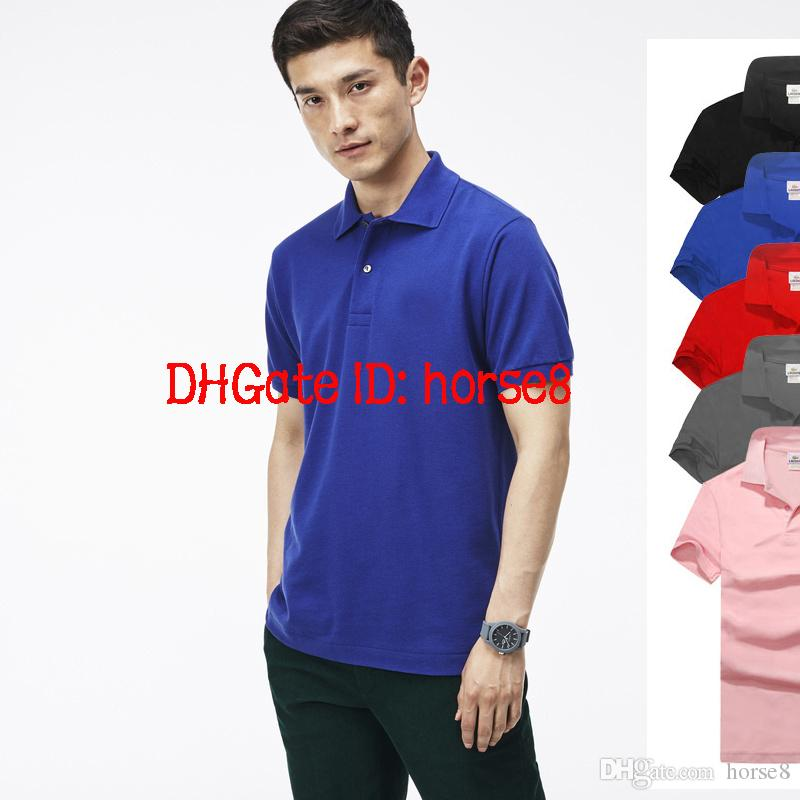 2018 Hot New crocodile Polo Shirt Men Short Sleeve Casual Shirts Man's Solid classic t shirt Plus Camisa Polo 801