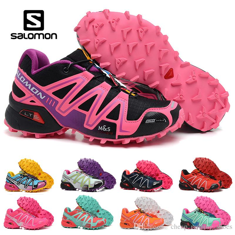 the latest 87b84 050ad Salomon Speed Cross 3 CS III Running Shoes Black Silver Red Pink Blue Women  Outdoor SpeedCross 3s Hiking Womens Sports Trainer Sneakers Running Shoes  Men ...