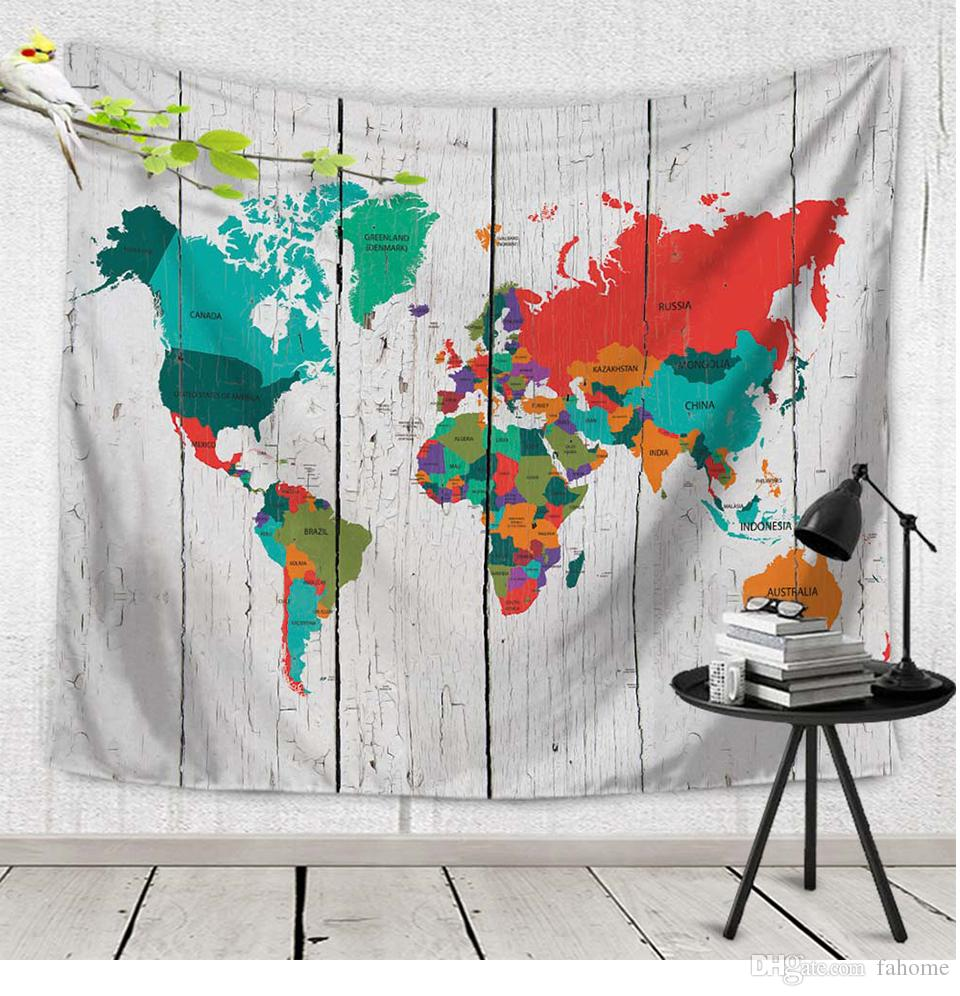 Cmcmcmxcm New World Map Indian Tapestry Hippie Wall - Cloth world map wall hanging