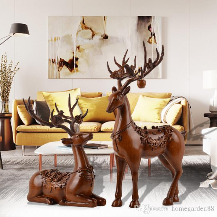 European Deer Resin Crafts Home Decor Resin Craft Ornaments Resin