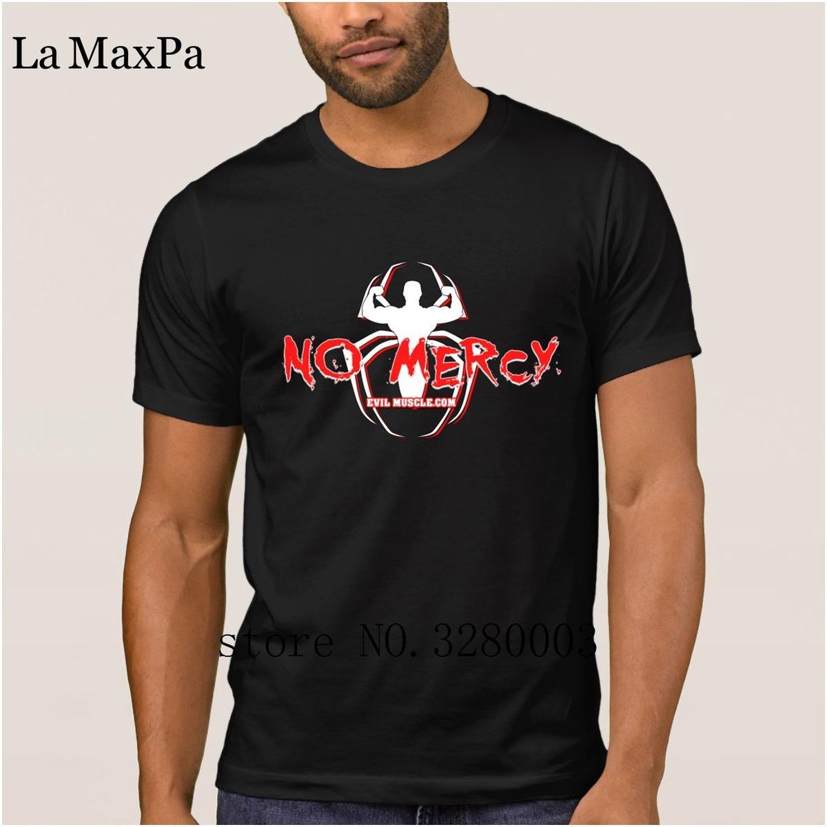 purchase cheap 26430 07010 La Maxpa erstellen Lustige T-Shirt Männer keine Gnade Spinne Männer T-Shirt  Sommer Bilder T-Shirt für Männer Rundhalsausschnitt Anti-Wrinkle