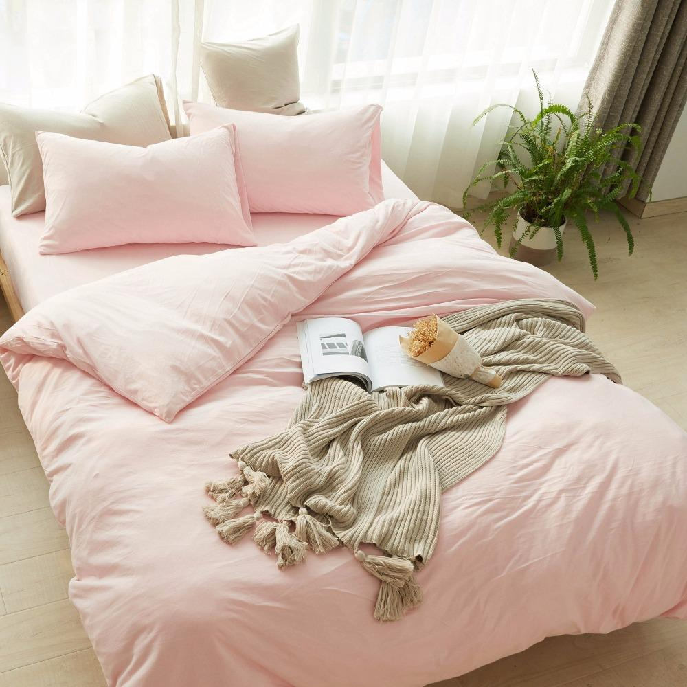 100 Knied Coon Duvet Cover Set King Size Bed Set Pink Bed Cover