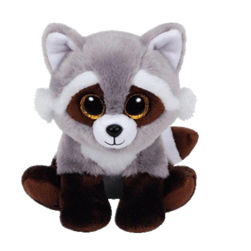 2019 Ty 6 15cm Beanie Babies Classic Bandit The Raccoon Plush
