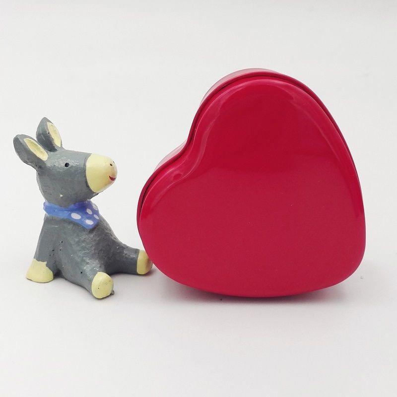 Heart Shape Metal Tin Candy Box Hearted-Shape Wedding Favor Gift Favors Wedding Party wen5851
