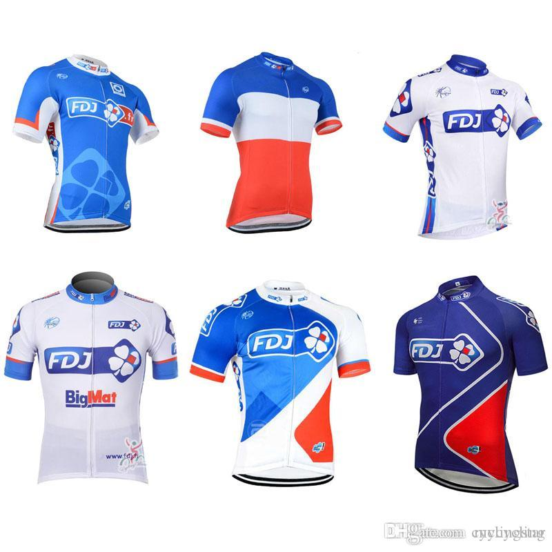 cf9c30198 Maillot Ciclismo 2018 Pro Team FDJ Mens Cycling Jerseys Summer Breathable  Road Bike Clothing Bicycle Short Sleeve Shirt Mtb Sportswear C2803 Mountain  Bike ...