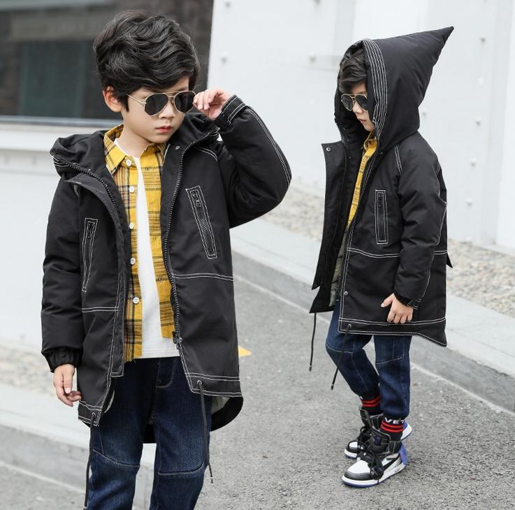 5d5bca85d High Quality Boys Down Jacket 2018 Boys Winter Cotton Coat Parkas ...