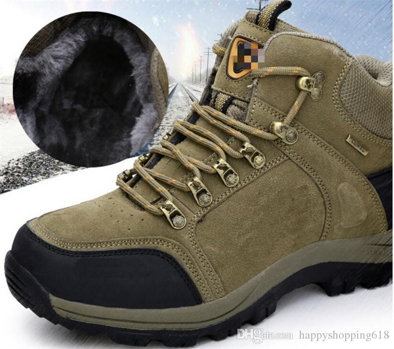 Hot Sale 2017 top fashion style Outdoor thermal boots Waterproof snow boots Men's favorite outdoor shoes N017