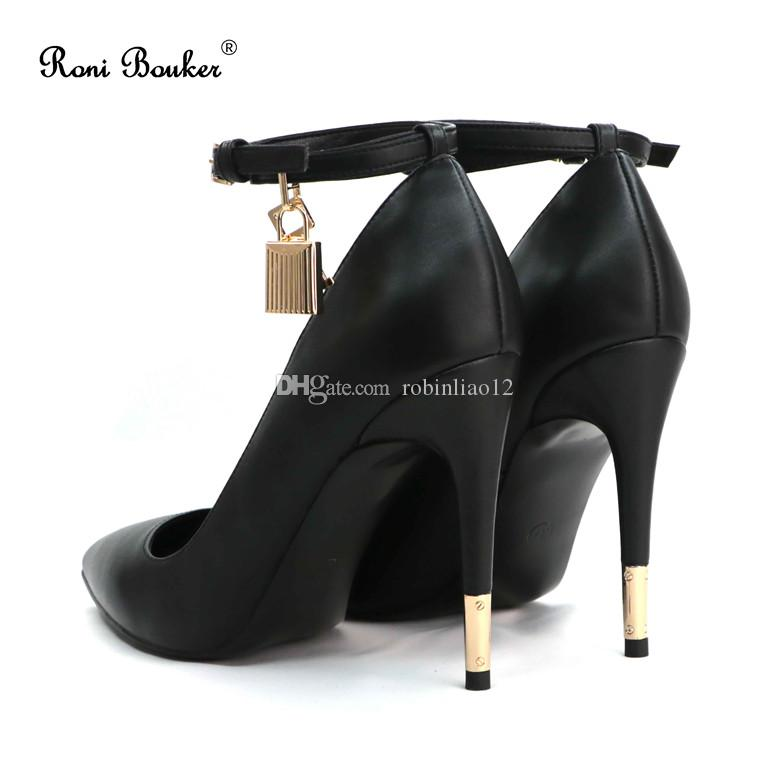 Best Selling Suede Leather Shoes Women Formal High Heels Pumps with Lock Other Colors Custom Made size35-42