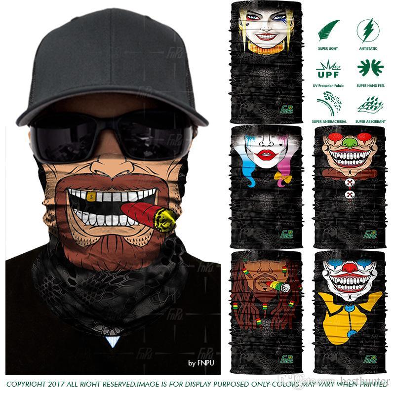 3D Seamless Magic Headband Joker Skull Skeleton Bandana Army Tube Neck  Warmer Face Mask Scarf Bicycle Sport Head Scarf Headwear UK 2019 From  Besthunter 8a2e9743361