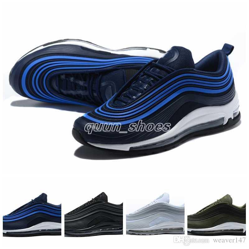 promo code defc4 76b2c Compre 2018 97 Zapatos Triple Blanco Negro Zapatillas Og Metallic Gold  Silver Bullet Entrenador Para Hombre Mujer Deportes Zapatos Zapatillas De  Deporte ...
