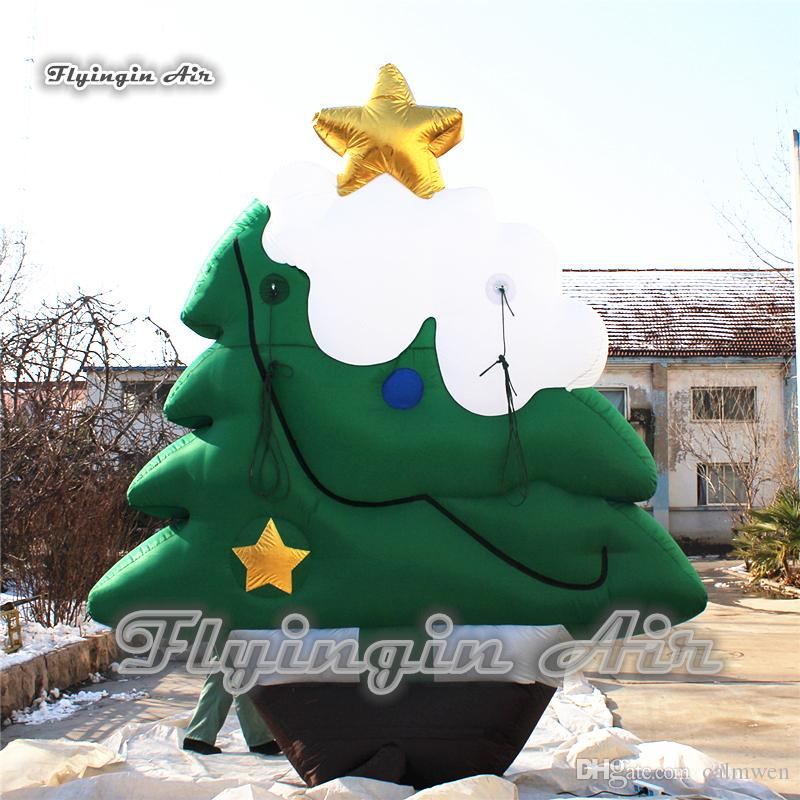 2019 Cheap Airblown Christmas Decorations 4m Height Inflatable Xmas