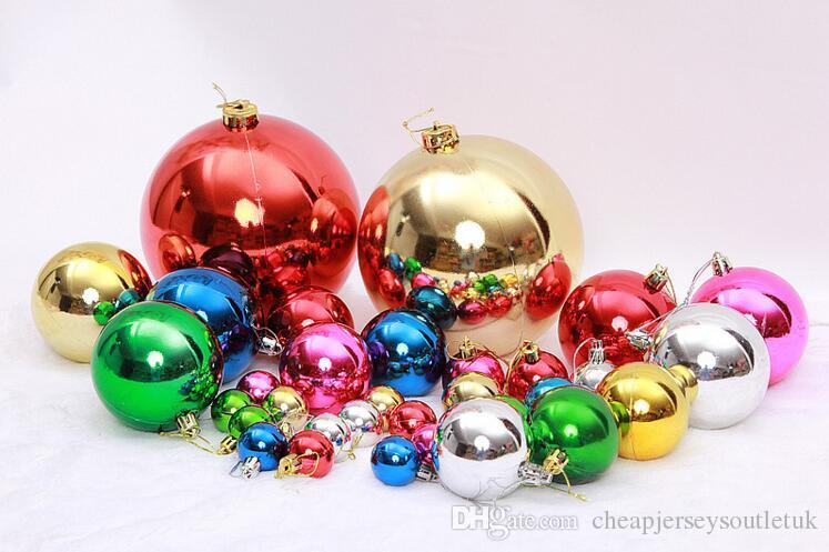 christmas ball manufacturers dress up jewelry arrangement supplies large christmas tree decoration plating ball color light ball wholesale handmade - Christmas Ball Decorations