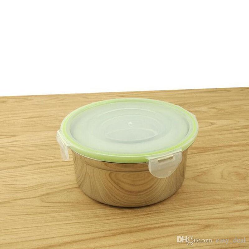 Set di stoviglie in acciaio inox Picnic Bento Box Contenitore alimenti bambini Studenti Servizio da tavola a prova di perdite Spedizione gratuita ZA6171