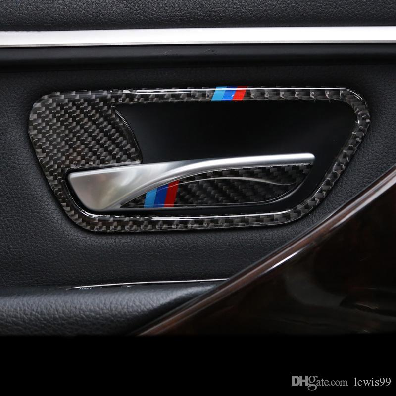 2019 Carbon Fiber Car Interior Door Handle Cover Trim Door Bowl