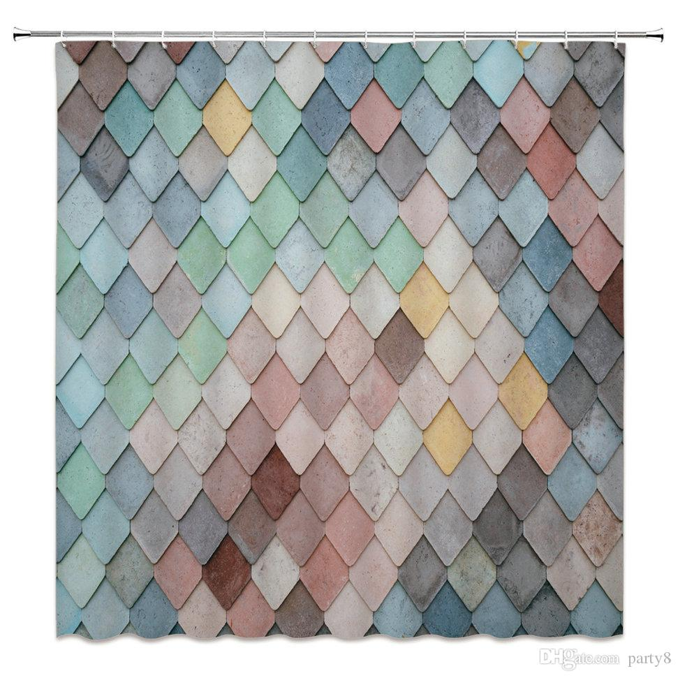 Best Sellers Color Tile Creative Shower Curtains 69 X 70 Inch ...