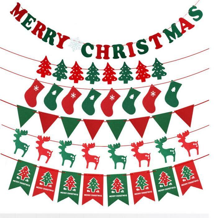 2018 New Christmas Decoration Diy Christmas Flag Christmas Tree