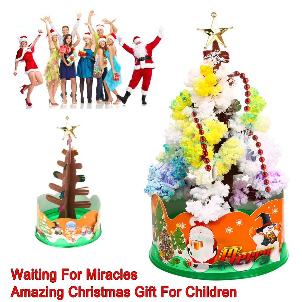 Magia Growing Paper Interactive Tree Magical Grow Trees Xmas Kids Toy Gift Albero di Natale Arbre Magique Decorazione natalizia