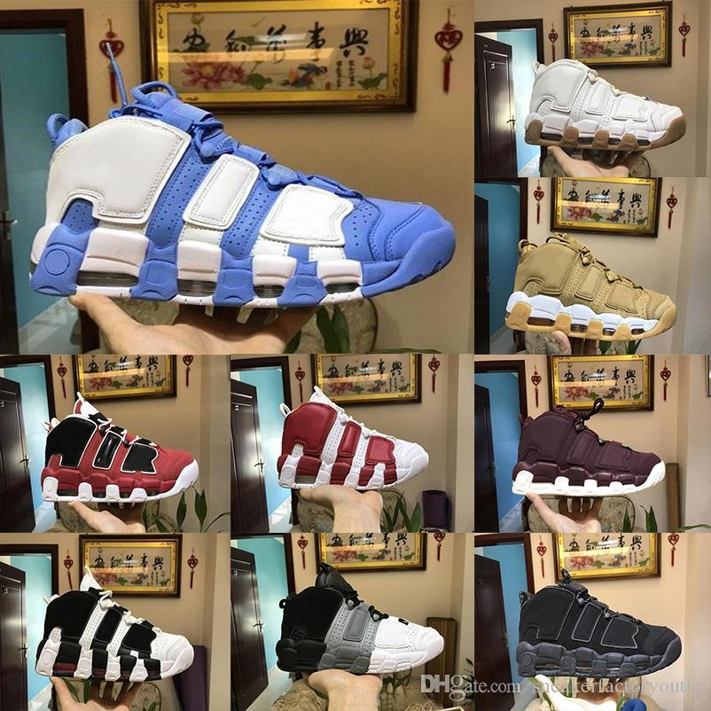 online store 7496a 89e9c Großhandel 2019 Pippen Mehr Uptempo Basketball Schuhe 13 Farben Hohe  Qualität Herren Schuh Sportlich Sportschuhe Turnschuhe Basketball Turnschuhe  Größe 40 ...