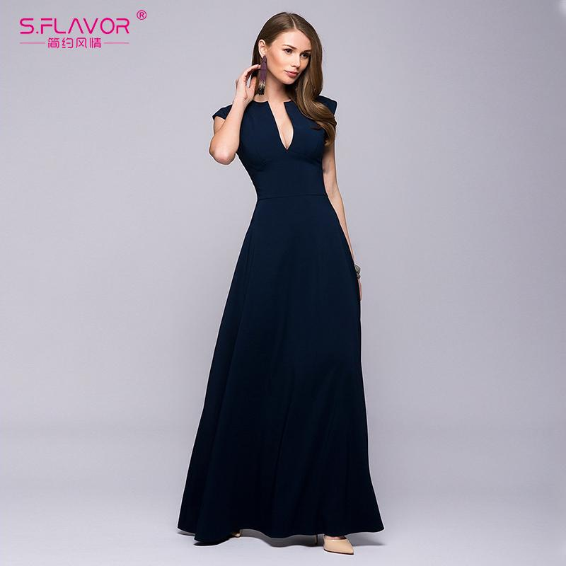 Mujer Largo 2018 S Fiesta Vestido Compre De Sin flavor 76xwq4pIA5