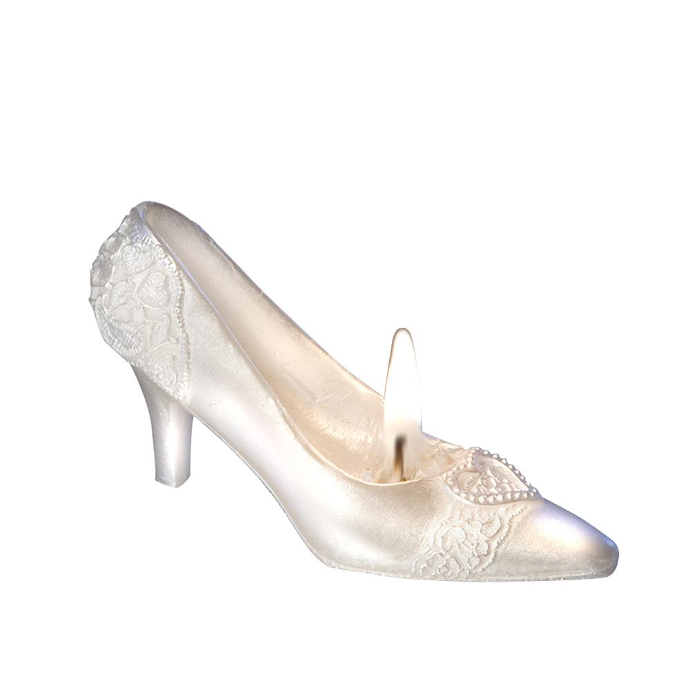 3D Wedding Decoration Crystal Shoe Design Candle White High heels shoes Candles for DIY Holiday Wedding Party Decor Supplies P20