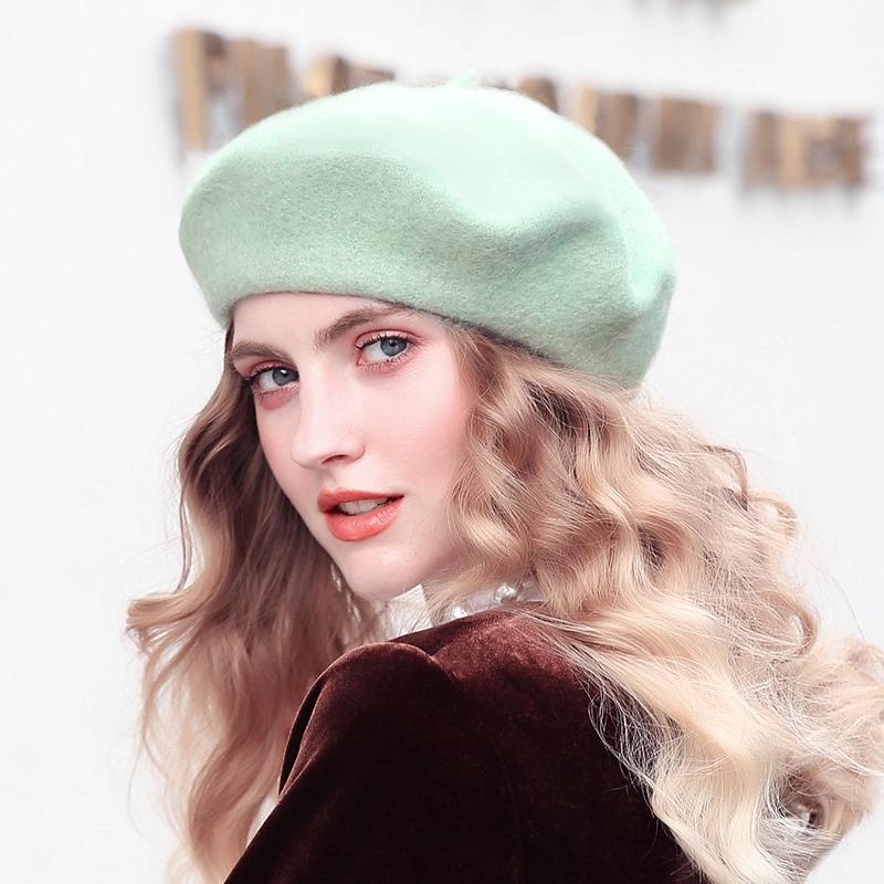 Fashion Girls Wool Beret Women French Style Berets Female Warm ... e63aec3fc38