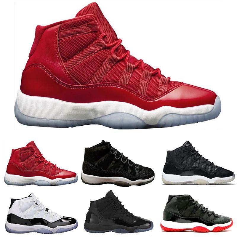 12bd037f945a2 Compre Nike Air Jordan 11 Retro 2018 Nueva Venta Caliente Para Mujer  Zapatos Casuales Toro OG ASG Negro Blanco Rojo Raza Azul Real Entrenadores  Deportivos ...