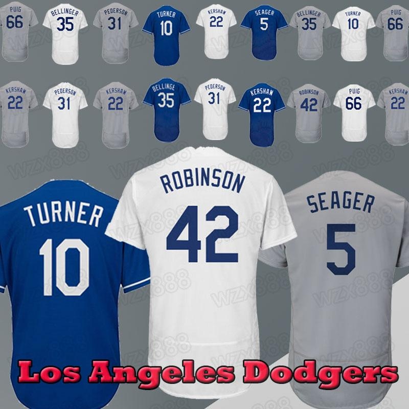 various colors 352d7 eda3e Los Angeles Dodgers Jersey 22 Kershaw 10 Justin Turner 23 Adrian Gonzalez  35 Cody Bellinger 31 Pederson 42 Jersey