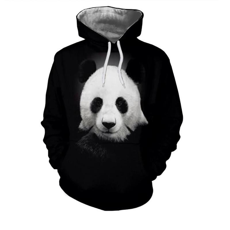 Compre 3D Preto E Branco Lindo Tesouro Panda Impresso Moletons Com Capuz  Hoodies Outono Inverno Dos Homens Casuais Mulheres   Homens Streetwear De  Xiatian4 fffdad83961