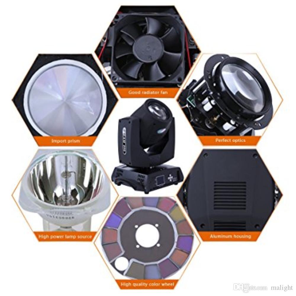 Stage Lighting Beam Spot Light 230W Moving Head DMX512 Osram 7R Lamp Bulb 16CH Gobo for Disco Club DJ Xmas Christmas Birthday Home