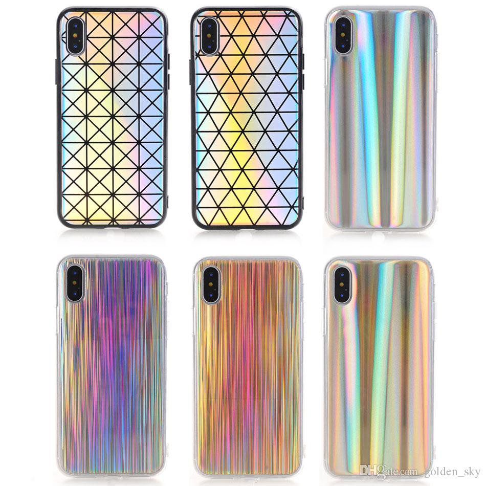 2018 High Quality Colorful Laser Phone Case Soft Shell For iPhone X 8 Plus 7 6 6s cellphone cases