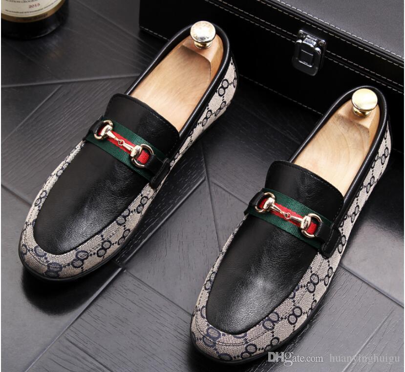 1f6a7683 Compre 2019 NUEVOS Zapatos De Moda Para Hombre Mocasines De Cuero De Alta  Calidad Ocasionales Diseñador De Lujo Marca Hombres Italianos Zapatos  Planos ...