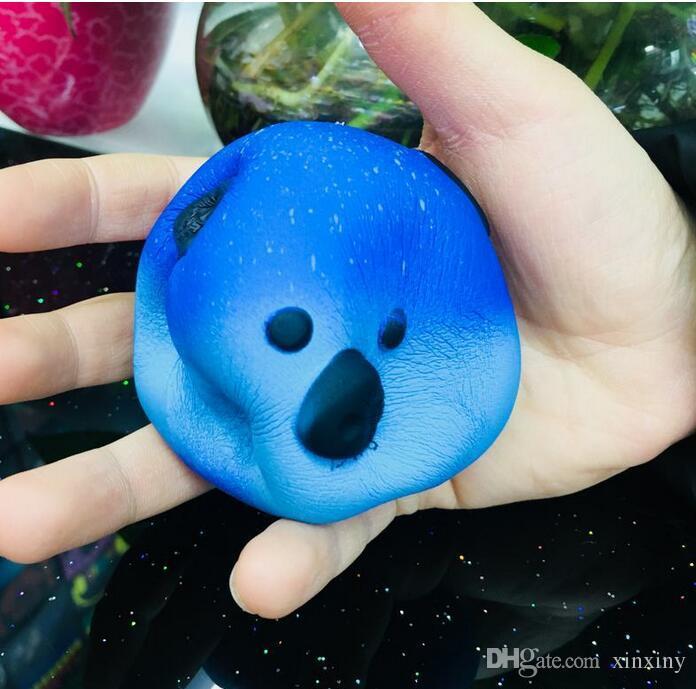 STS200 Jumbo Kawaii Starry Sky Panda Squishy Super Slow Rising Charm Squishies Bread Squeeze Bun Kid Toy Anti Stress PU Foam Doll
