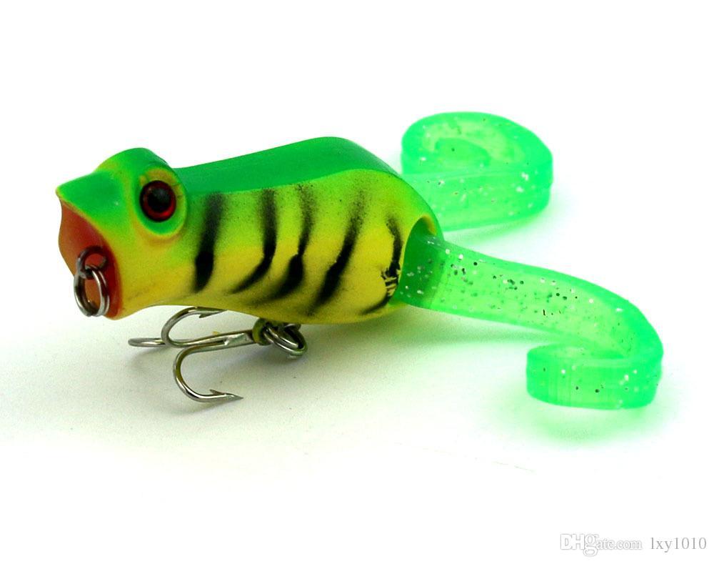 PO016 100 ADET Topwater Popper Balıkçılık Cazibesi Isca Yapay yem Yüzen Yumuşak Kurbağa Pesca wobblers lure 10.8G sazan olta takımı