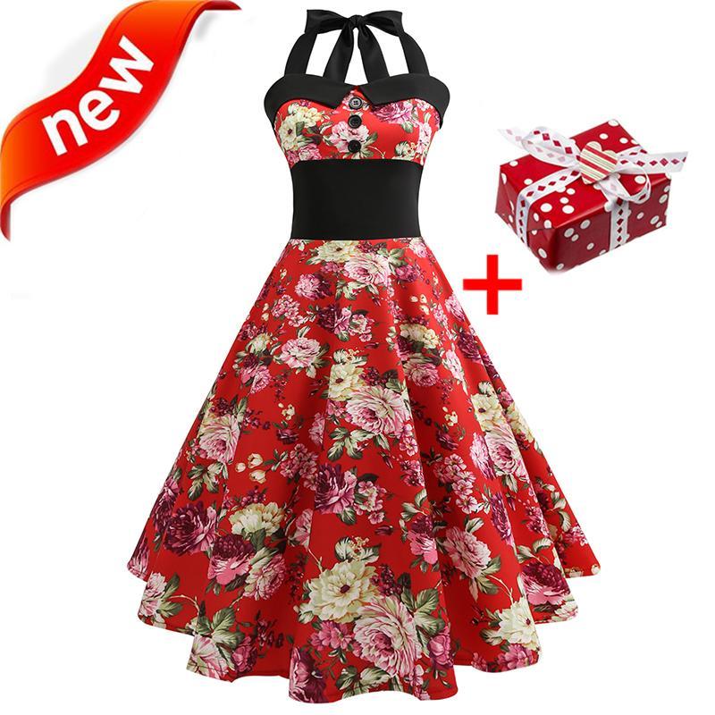 Grosshandel Kleider Sommerkleid 2018 Plus Grosse Xxl Halter Vintage