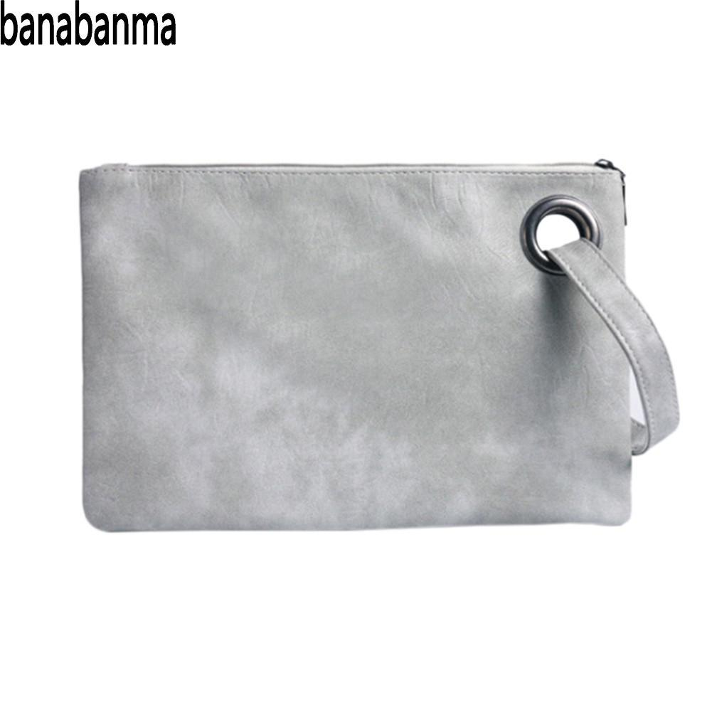 937bdffab2d4 Banabanma Simple Handbag Retro Clutch Bag Fashion Large Capacity ...