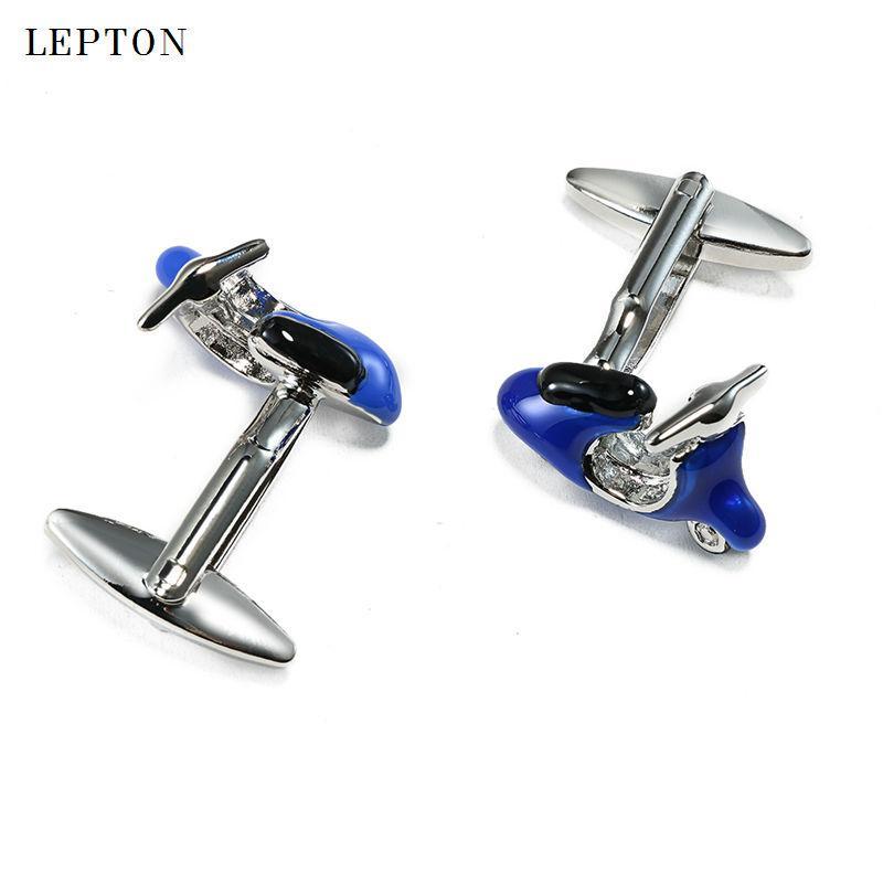 Лептон мода мотоцикл дизайн запонки высокое качество эмаль запонки мотоцикл стиль запонки для мужской рубашки манжеты запонки