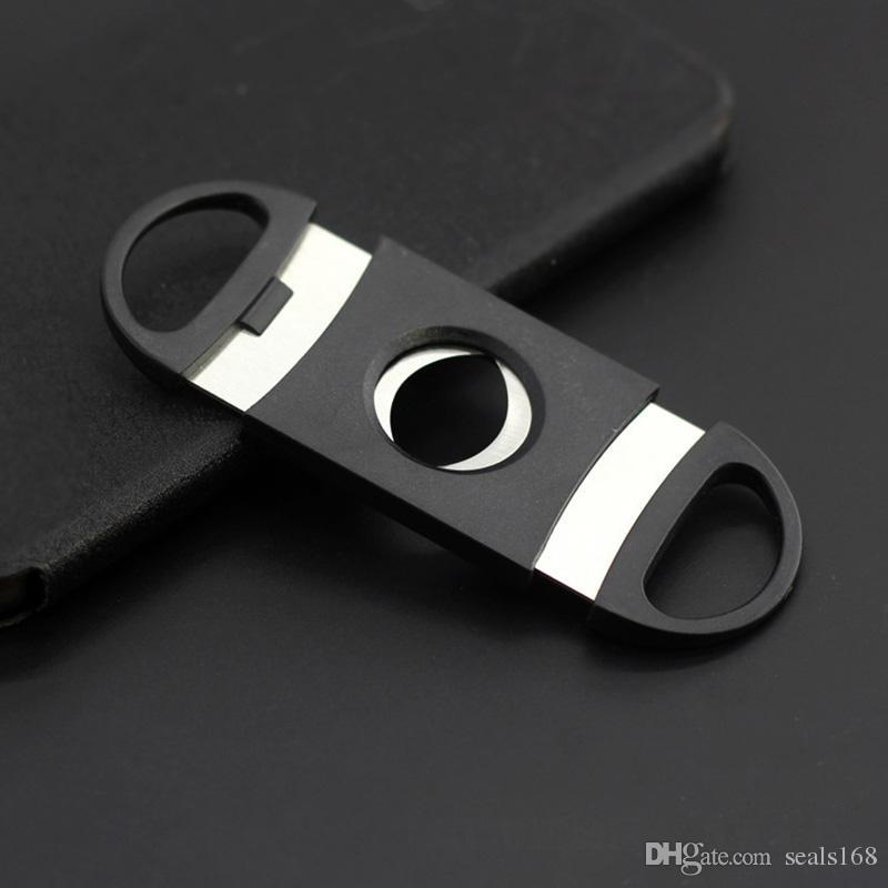 Cep Plastik Paslanmaz Çelik Çift Bıçakları Kesici Bıçak Makas Tütün Siyah Ücretsiz DHL XL-175