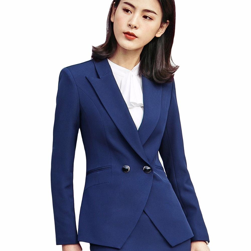 Compre Blazer Negro Con Botones Chaquetas Y Blazer Office Lady Coat Ropa  Formal Para Mujeres A  46.07 Del Jingju  774aa0b54b19