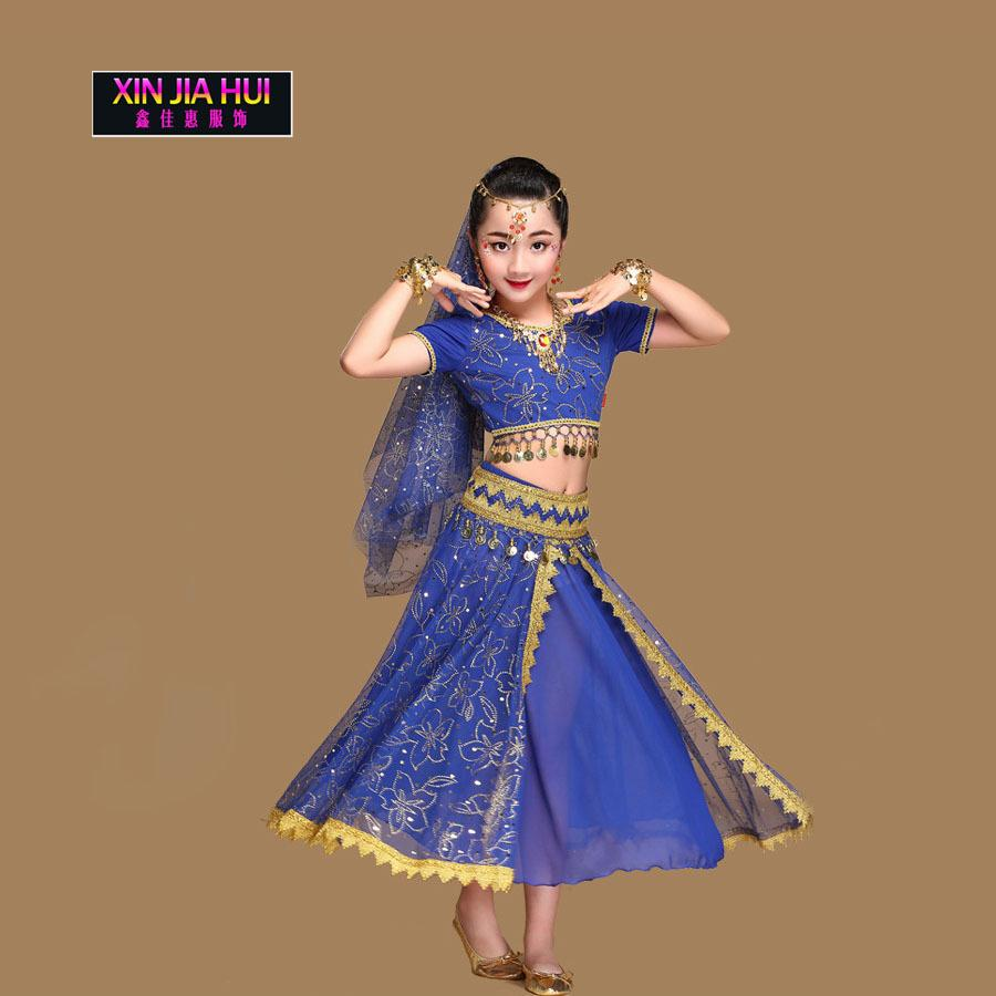 d30fdb0db 2019 Sari Girls Dress Set Orientale Enfant Indian Jewelry Costumes ...