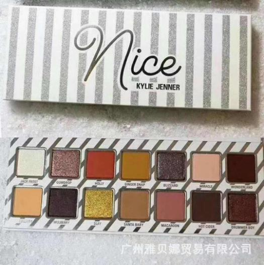 INS Best Sales Kylie Jenner Eyeshadow Naughty Nice Shimmer Matte Earth Color Nude Color