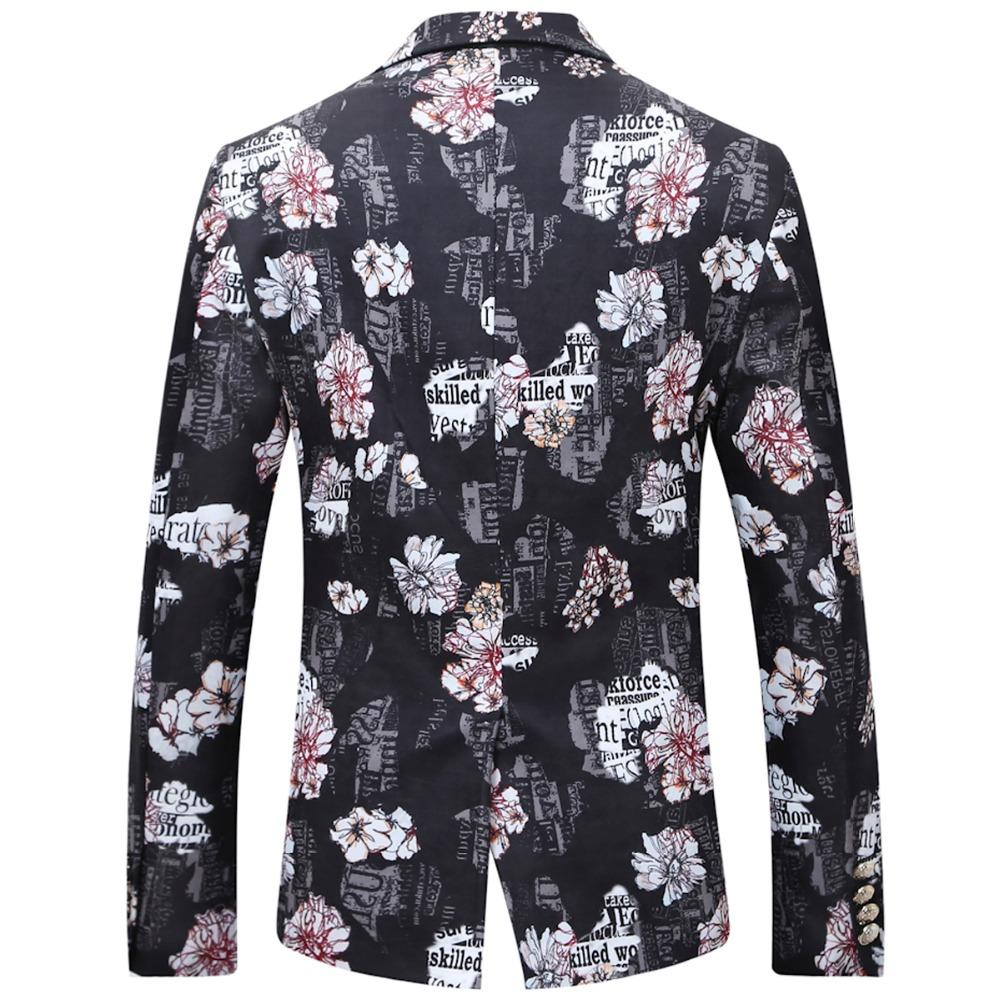 2019 2018 Male Floral Jacket Suit Painting Mens Blazers Fashion Single  Button Suits With Bow Tie Slim Fit Party Blazers Plus Size 6XL From Fos1,
