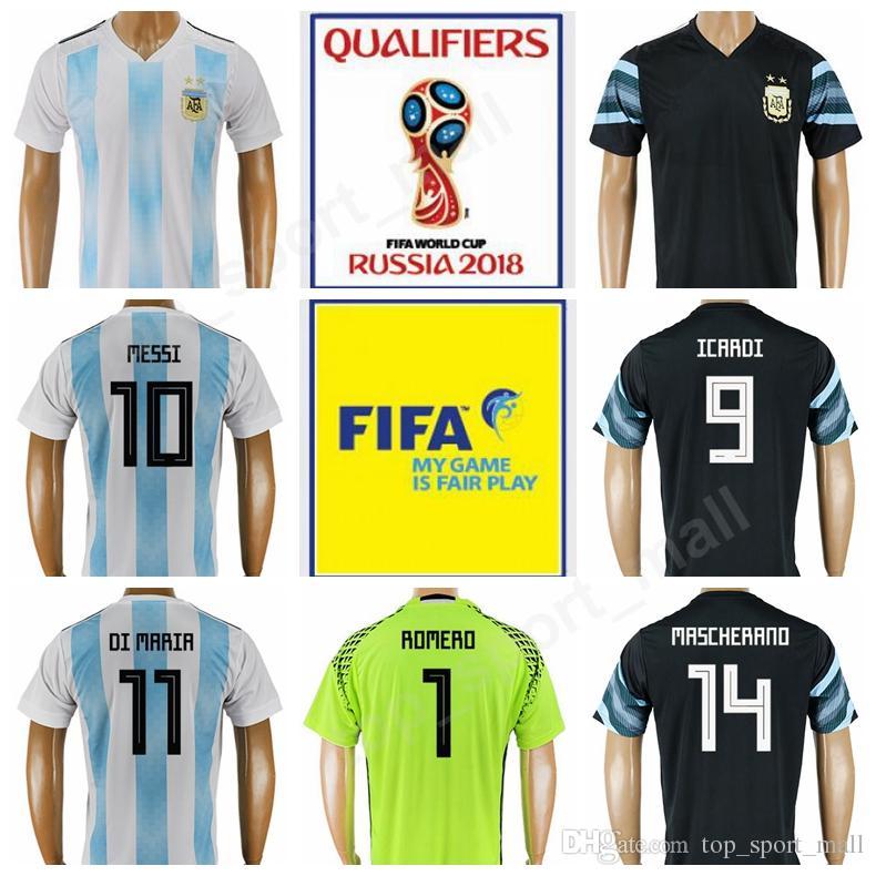 928768543 2019 Argentina Lionel Messi Jersey 10 World Cup 2018 Soccer 10 MARADONA 11  DI MARIA 20 KUN AGUERO 5 Gago Goalkeeper 1 ROMERO Football Shirt From ...