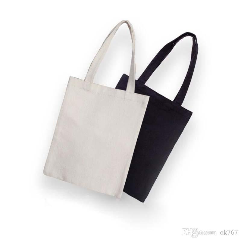 8b7500f84d5b 2019 Black White Blank Pattern Canvas Shopping Bags Eco Reusable Foldable  Shoulder Bag Handbag Tote Cotton Tote Bag From Ok767