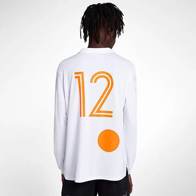 Black White Football Shirt Long Sleeve Polo New Retro High Street ... d75b2964d