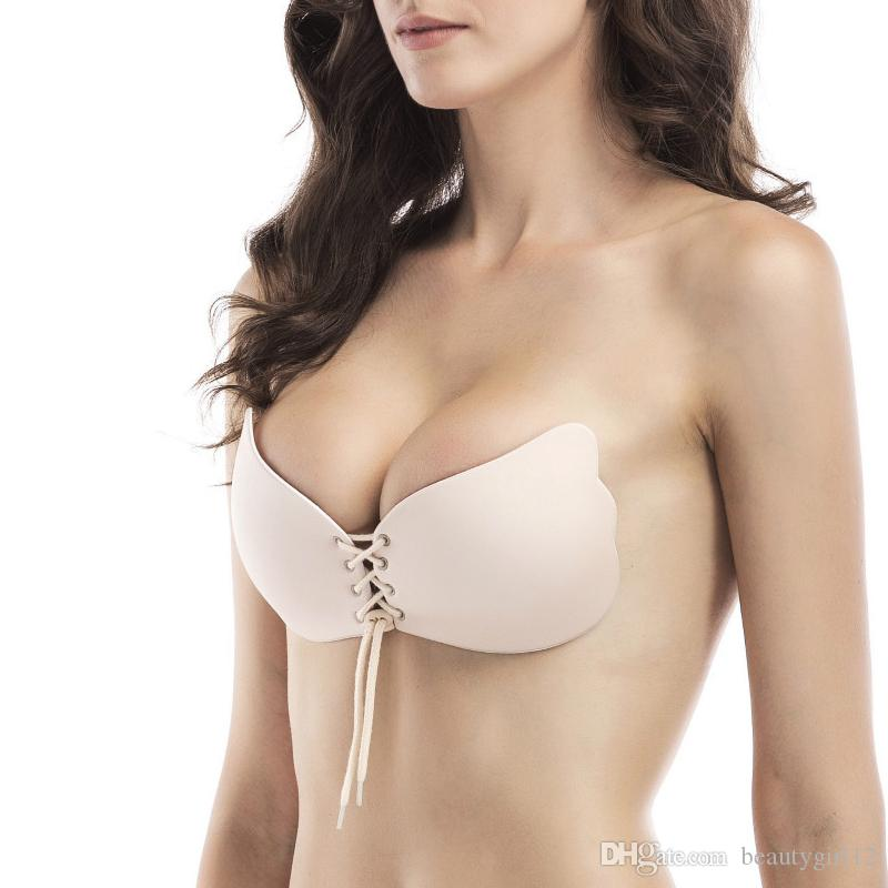 Seamless Invisible Bra Adhesive Silicone Backless Bralette Strapless Push Up Bra Sexy Lingerie Fly Bra Women Underwear